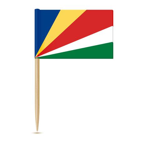 Flag of Seychelles. Swedish Flag toothpick