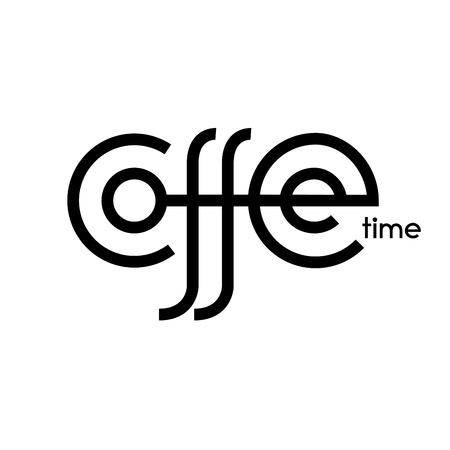 Coffee time hand drawn lettering isolated on white background Ilustração