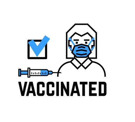 Syringe vaccine icon