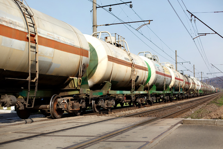 old train wagons crossing railway and transporting goods carriage, transportation concept