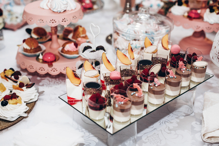 Delicious Candy Bar At Luxury Wedding Reception Exclusive Expensive