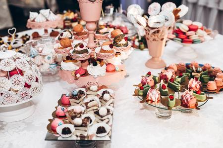 Delicious Cupcake Candy Bar At Luxury Wedding Reception Exclusive