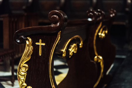 details in catholic church or cathedral, religion concept, wedding traditional ceremony