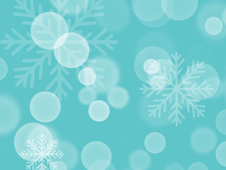 Winter blue background with sparkle lights and snowflakes. Hand drawn illustration. Happy holidays. Hello winter