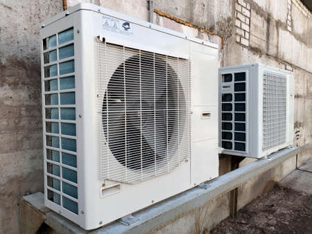 Device for maintaining optimal climatic conditions of building structures, air conditioner. Stock fotó