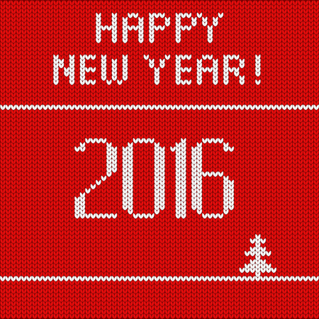 new years: knitted red New Years background