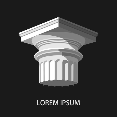 roman pillar: Greek column. Icon.Column logo. Antique column icon. Vector illustration Illustration