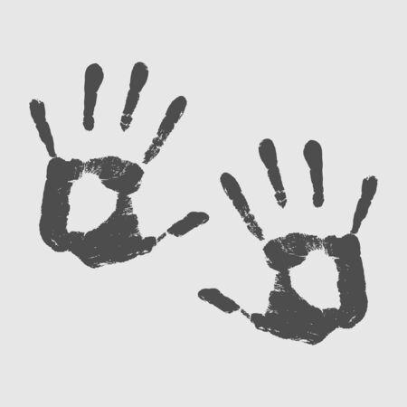 hand print: Hand print .. Vector illustration
