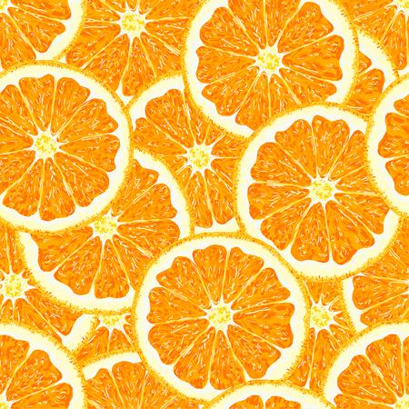 Orange. Seamless pattern orange citrus fruit. Vector illustration