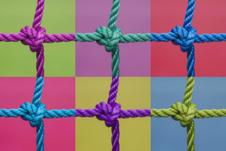 set of knots on a color background Stock Photo