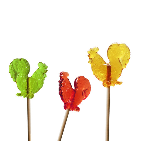 set of lollipops on a white background