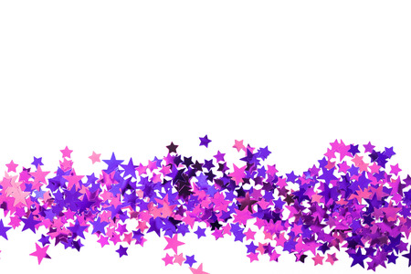 confetti on a white background