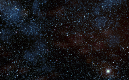 Space. Night sky with stars and nebula Stock Photo
