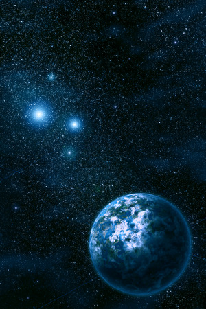 nebula: Space. Night sky with stars and nebula Stock Photo