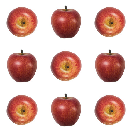 set of apples on a white background