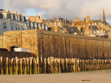 st  malo: Walled city of St. Malo Stock Photo