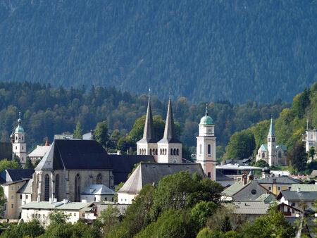berchtesgaden: Berchtesgaden Cityscape against the watzmann