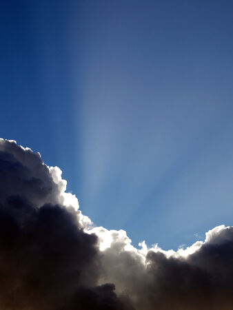 disappears: Sun Disappears behind the clouds