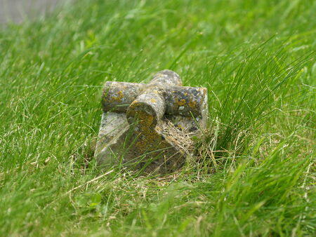 bygone: Witnesses of a bygone era in the cemetery, UK