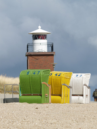 schleswig holstein: Lighthouse on Foehr, Schleswig Holstein Stock Photo