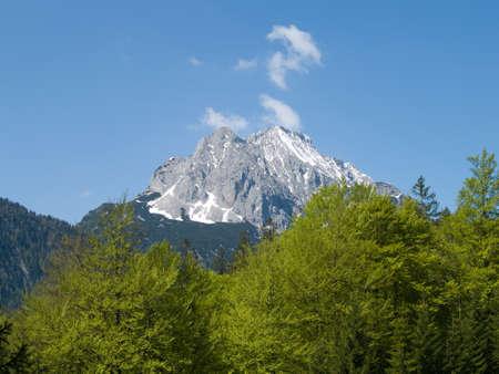 massif: wetterstein massif in the Bavarian alps