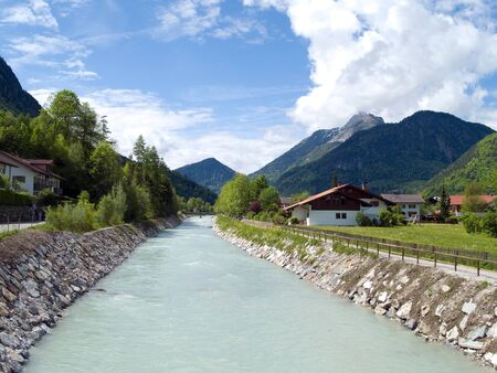 channeled: river Isar in a channel