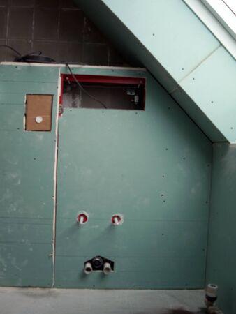 energetically: renovation of a bathroom, vorbau for installation of badgerten Stock Photo
