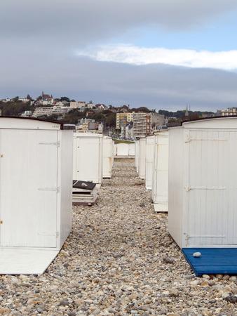 bathhouse: bathhouse on the beach in le havre,