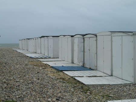 bathhouse: bathhouse on the beach in le havre france