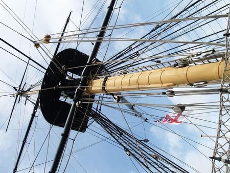 yachtsman: detail of a to sailingship