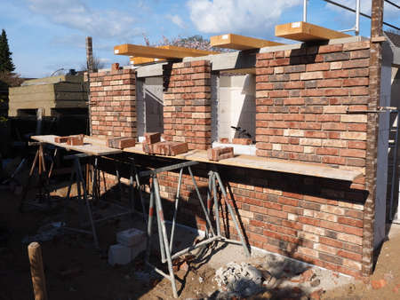 built: built a new house Stock Photo
