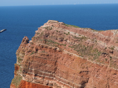 red rock: red rock of Heligoland Stock Photo