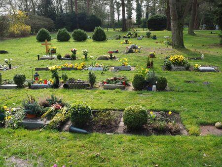German cemetery Stock Photo