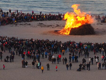 Easter bonfire, bike burning, event