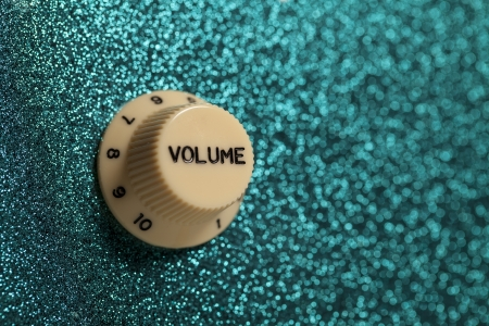 glam rock: Glam rock volume knob  Symbolic of youthful indulgence with the music culture