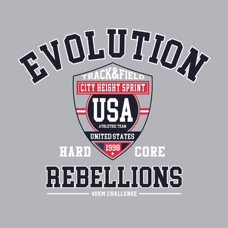 evolution typography picture for t-shirt
