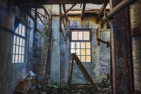 Urbex, urban exploration, old abandoned dutch factory.