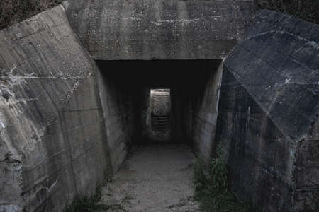 German bunkers in Ouddorp The Netherlands.