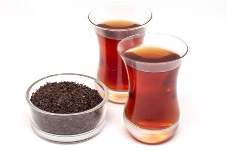 Black Tea in Turkish Tea Glasses