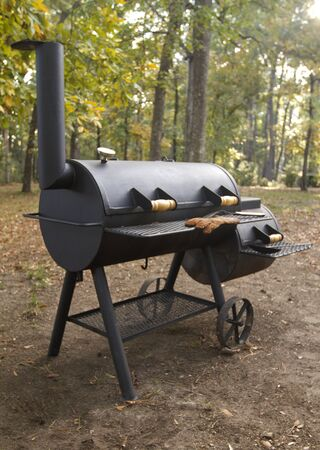 Custom-built smoker grill