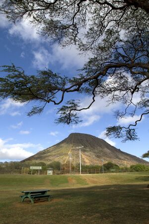Shot from the Koko Head park looking up at Koko Head crater in Hawaii Kai.