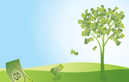 Money Doesn t Grow on Trees Vector