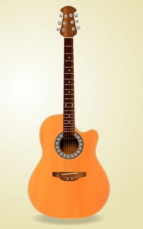 art product: Realistic Acoustic Guitar