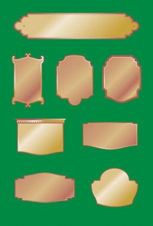 Decorative Signs   Plaques Vector
