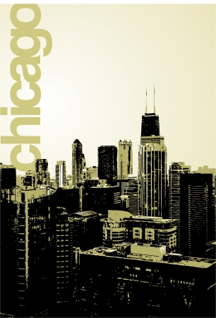 windy city: Chicago - horizonte alternativo Vectores