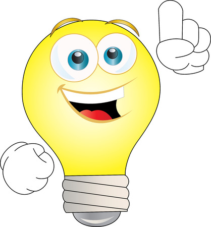 Idea bulb with forefinger up Vector