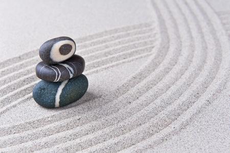 Japanese zen garden stone