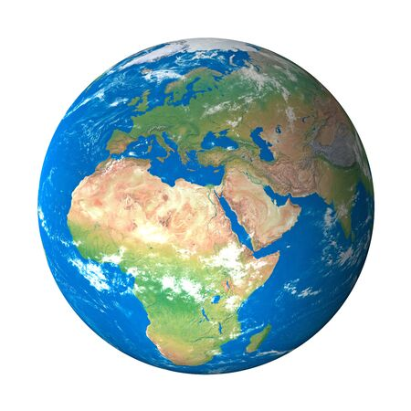 Earth Model from Space: Europe View
