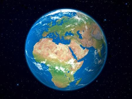 russland karte: Erde Modell aus dem Weltall: Europa anzeigen Lizenzfreie Bilder