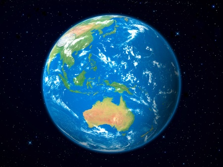 Earth Model from Space: Australia View